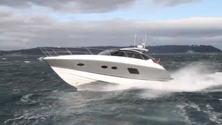 Motor Boats Monthly have the first test of the Princess V39 on the water MBM TV