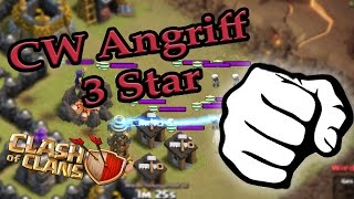 CW Angriff 3 Star Clash of Clans [ GER ]
