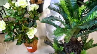 Искусственные цветы в горшках купить декоративные для интерьера квартиры ландшафта сада дачи дома(, 2015-06-14T16:39:07.000Z)