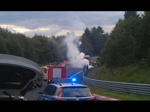 A heavy Motorcycle Crash and a strange 370Z - Nordschleife 21.08.2014