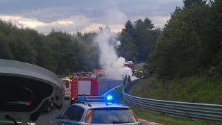 A heavy Motorcycle Crash and a strange 370Z - Nordschleife 21.08.2014