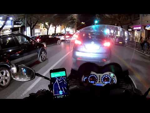 Night ride Thessaloniki Greece