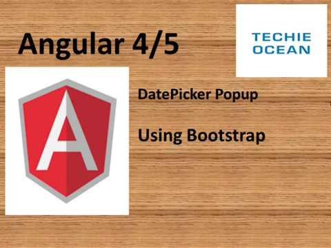 Angular 5 Datepicker using Bootstrap
