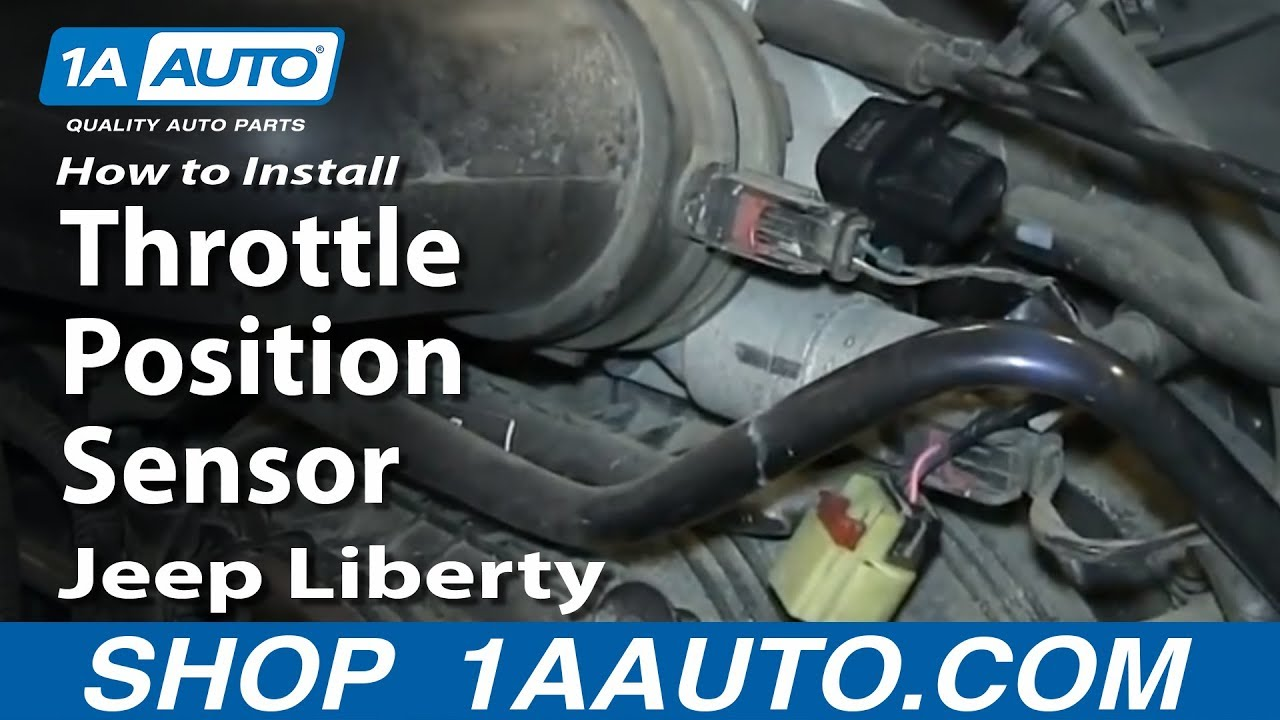 how to install replace throttle position sensor 3 7l 2002-06 jeep liberty