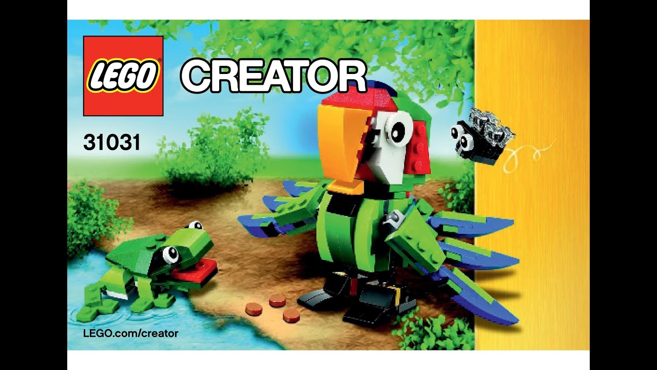 Lego 31031 Rainforest Animals Parrot Fly Instructions Lego Creator 3