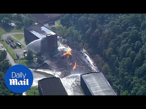 Jim Beam barrel warehouse reduced to smoldering ashes by fire