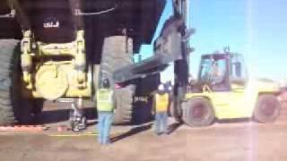 Replacing a Haul Truck Tire
