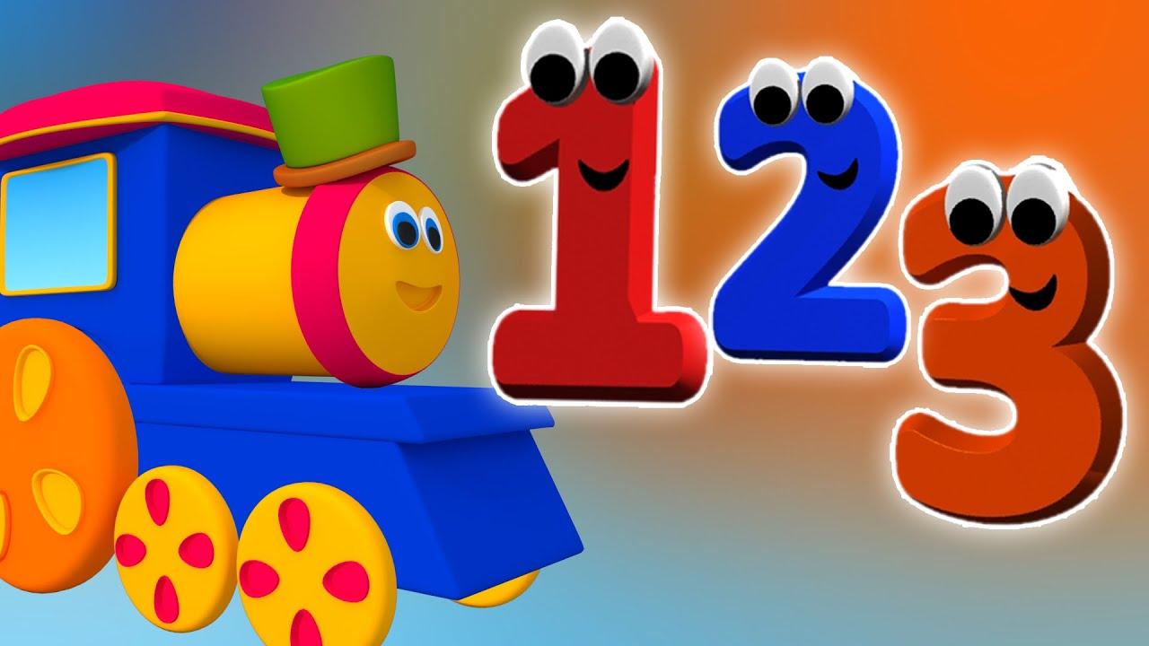 Bob Keretapi Menghitung nombor  Kartun 3D  Nombor untuk