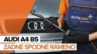 Montáž zadné a predné Rameno Zavesenia Kolies AUDI A4: video príručky