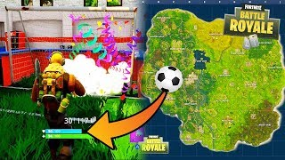 "NEW ""Secret Soccer Field"" Location in FORTNITE! (PLAYABLE SOCCER) 