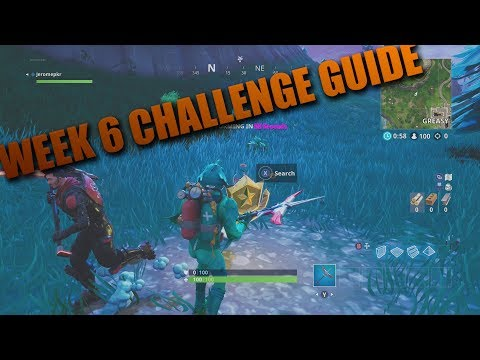 Fortnite Week 6 Challenges All Locations! Fortnite Battle Royale Update 7 Posters!