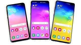 Samsung Galaxy S10e vs S10 vs S10 Plus