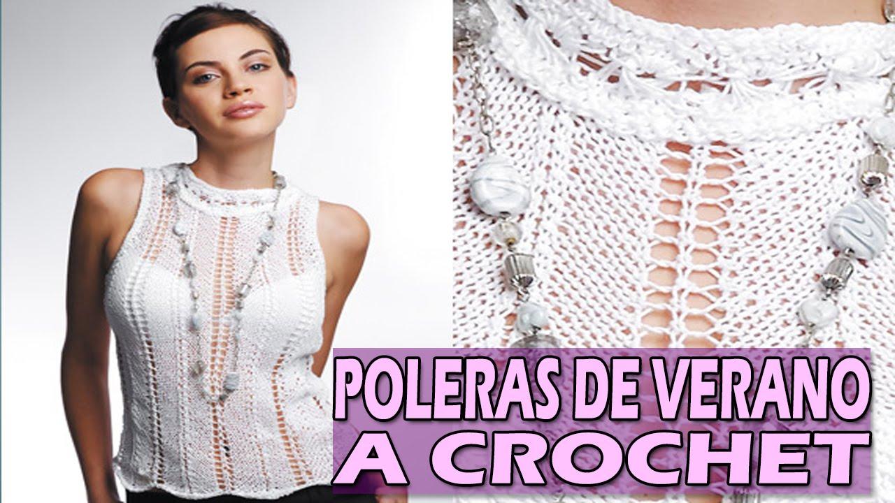 Blusa y Polera De Verano Crop Top - Tejidos A Crochet - YouTube