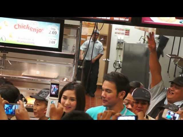 Sarah G and Mark B @ jolibee Travel Video