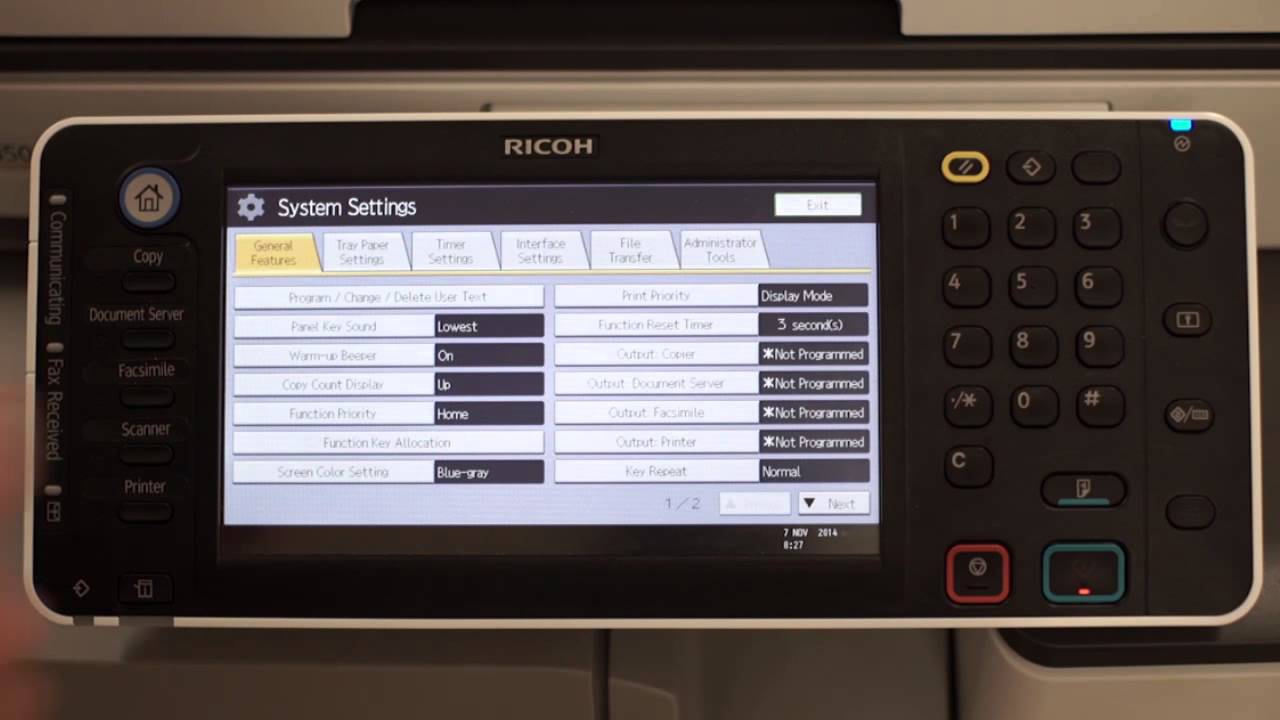 Ricoh Customer Support - How to configure scan to folder