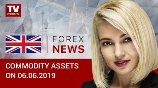 InstaForex tv news: 06.062019: Oil prices plunge while RUB declines despite rising demand for OFZ (Brent, RUB, USD)