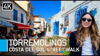 [4K] Torremolinos, Costa Del Sol, Spain (2019) Walking Tour - Town, Bars & Steps to the Beach