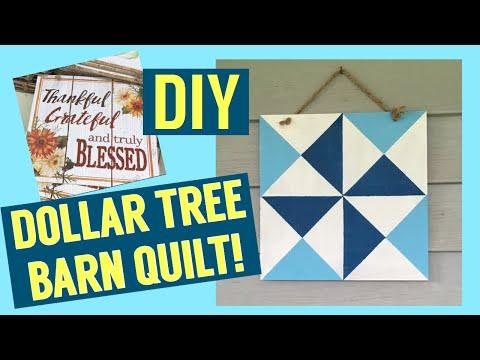 Dollar Tree Barn Quilt Tutorial || Handmade Christmas