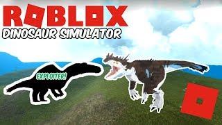 Roblox Dinosaur Simulator - Silent VS Exploiting Noob!
