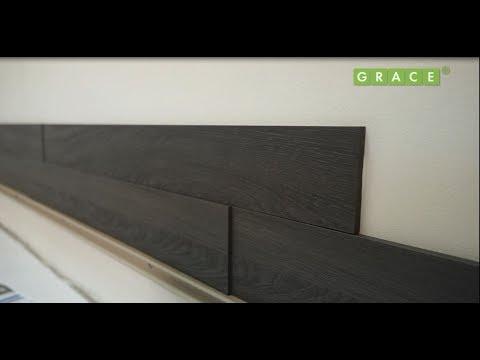 Монтаж декоративных стеновых МДФ панелей GRACE