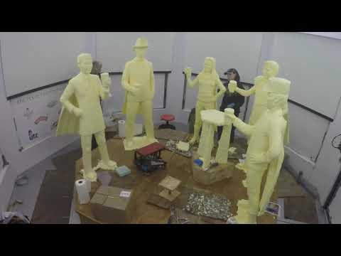 Pa. Farm Show 2019: Time-lapse of butter sculpture being built