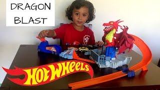 HOTWHEELS DRAGON BLAST UNBOX AND PLAY! Video
