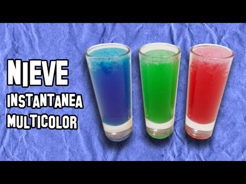 Nieve Instantánea Multicolor - Experimentos Caseros - LlegaExperimentos