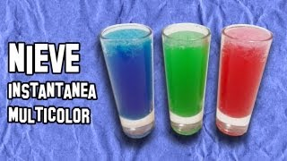 Como Hacer Nieve Instantánea Multicolor |  How to Make Instant Snow Multicolor