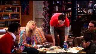 Agymenők (The Big Bąng Theory) - Penny touched Sheldon's food