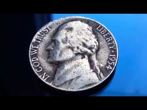 1954 Rare and Expensive Error US Coins Jefferson Nickel Coin Five Cents Numismatics