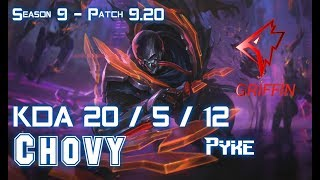 GRF Chovy PYKE vs ZED Mid - Patch 9.20 EUW Ranked