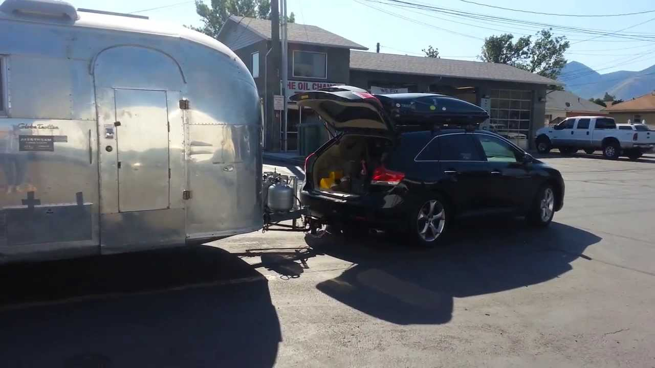 Nice Hitching Up The 19ft Airstream To The Venza