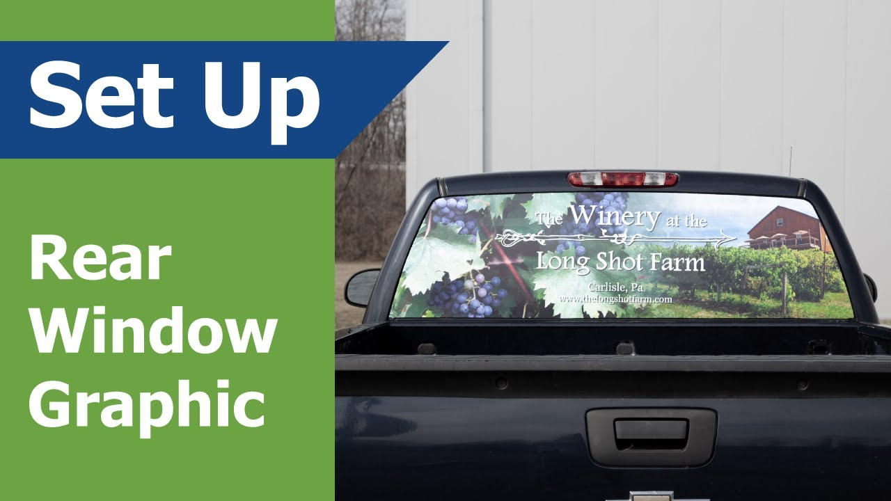 Pick-Up Truck Perforated Rear Window Wrap South Carolina