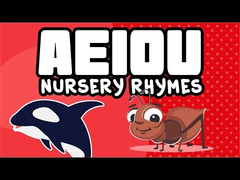 aeiou I The vowels song I Las vocales en Ingles I Nursery Rhymes
