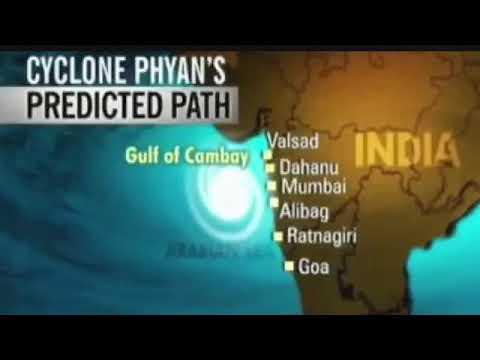 Cyclone phyan   2017   Mumbai on high  alert 🚨
