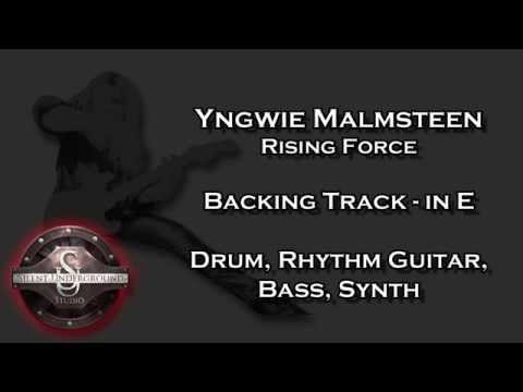 Yngwie Malmsteen - Rising Force - Backing Track + Rhythm Guitars in E