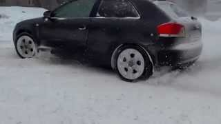 audi a3 quattro vr6 3 2 powersliding on snow