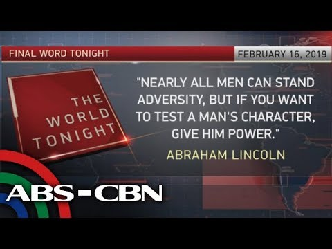 The World Tonight: The Final Word   February 16, 2019