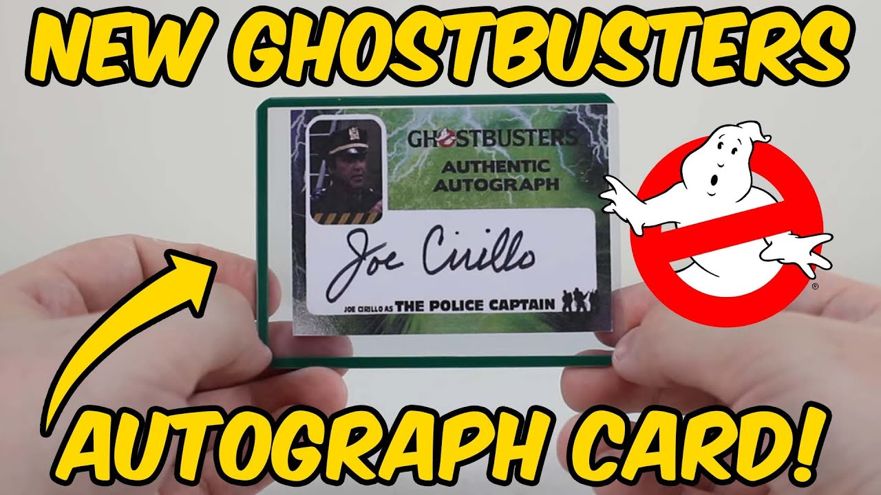 Hey, PENCIL-NECK! Check out this new Ghostbusters autograph card!
