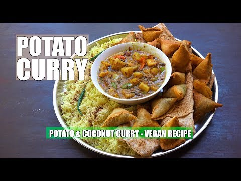 How to make Potato Curry - Potato Curry - Vegan Recipes - Aloo Masala - Easy Indian Potato Curry