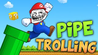 THE MARIO PIPE ARCADE TROLLING w/ FUNNY SOUND EDITS (Minecraft Parkour)