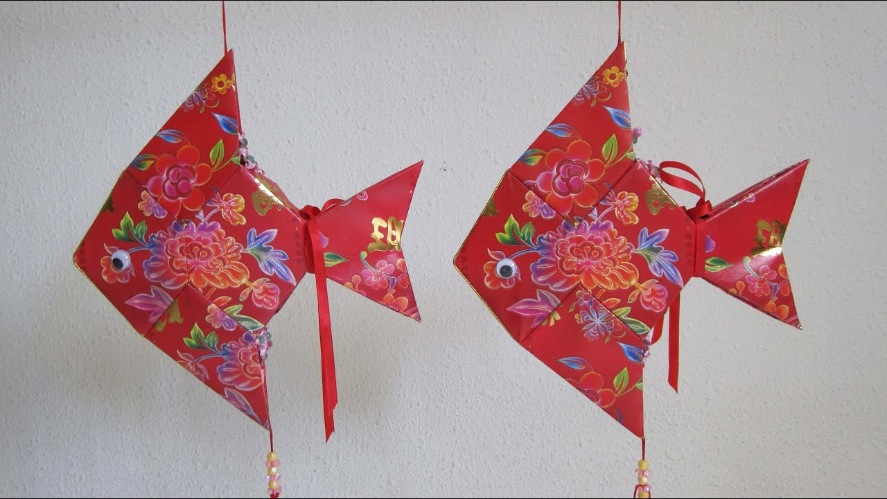 Cny tutorial no 14 how to make red packet hongbao for Ang pao fish tutorial
