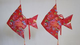 Repeat youtube video CNY TUTORIAL NO. 14 - How to make Red Packet (Hongbao) Pomfret