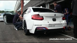 BMW M235i Racing - Loud sounds at Spa