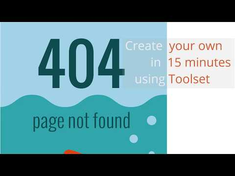 How to create a 404 error page using Toolset