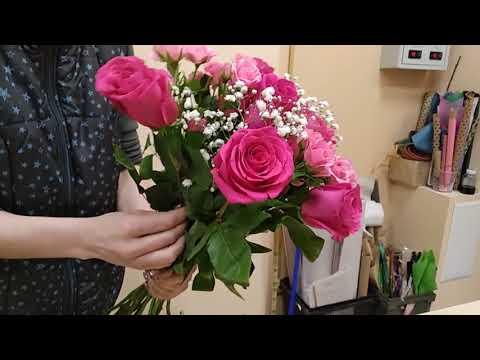 Как сделать букет из розы, обучающее видео № 365,часть 2