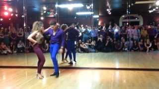 Ana Masacote free style dance at Pura Salsa Social