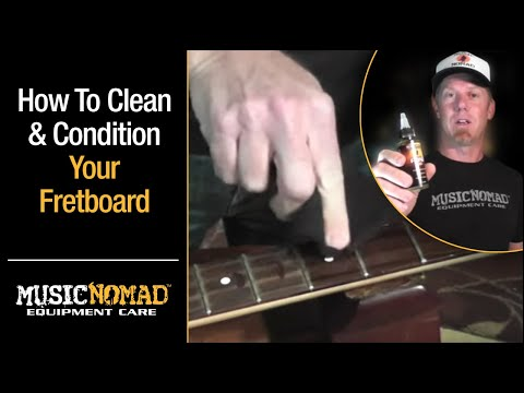 How to clean and condition a Rosewood Fretboard