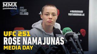 UFC 251: Rose Namajunas Media Day Scrum - MMA Fighting