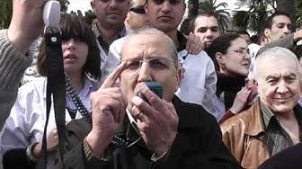 Intervention du Pr Djidjelli Prisident du Syndicat national des professeurs - sit-in du 10 MARS